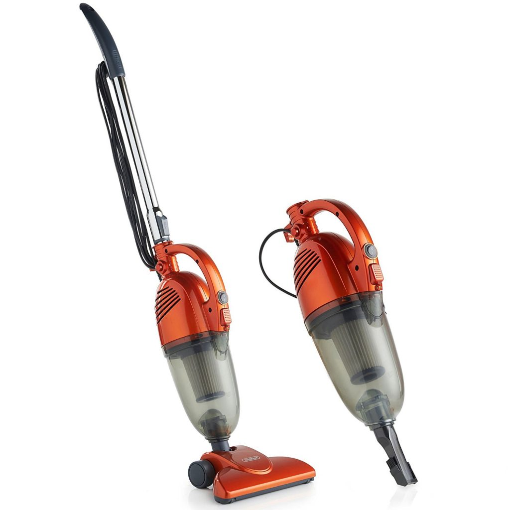 2-in-1 Corded Upright Stick and Handheld Vacuum Cleaner with HEPA Filtration