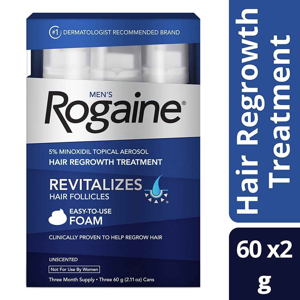 Mens Rogaine Hair Loss and Hair Thinning Treatment