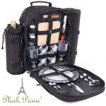 2 Person Picnic Basket Backpack with Cooler, Bottle/Wine Holder, Blanket, Plates and Cutlery