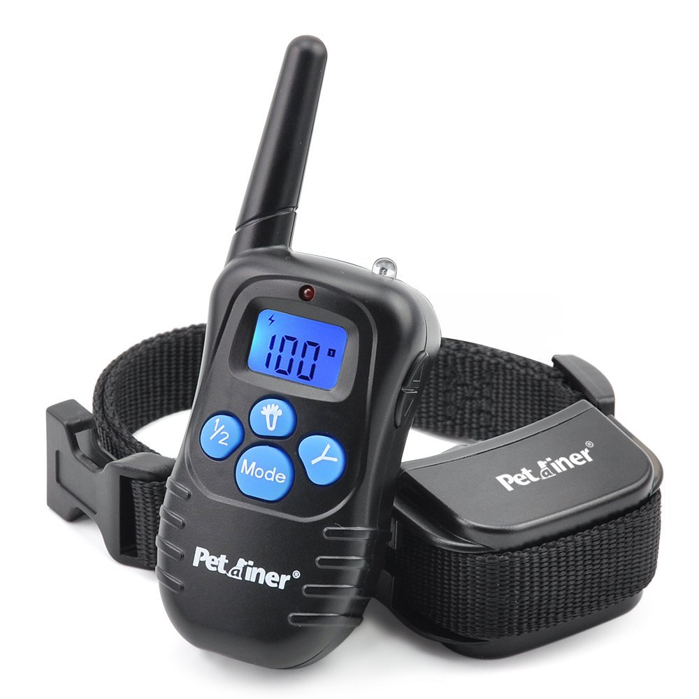 Petrainer Dog Training Shock Collar - Rechargeable Rainproof Beep Vibration