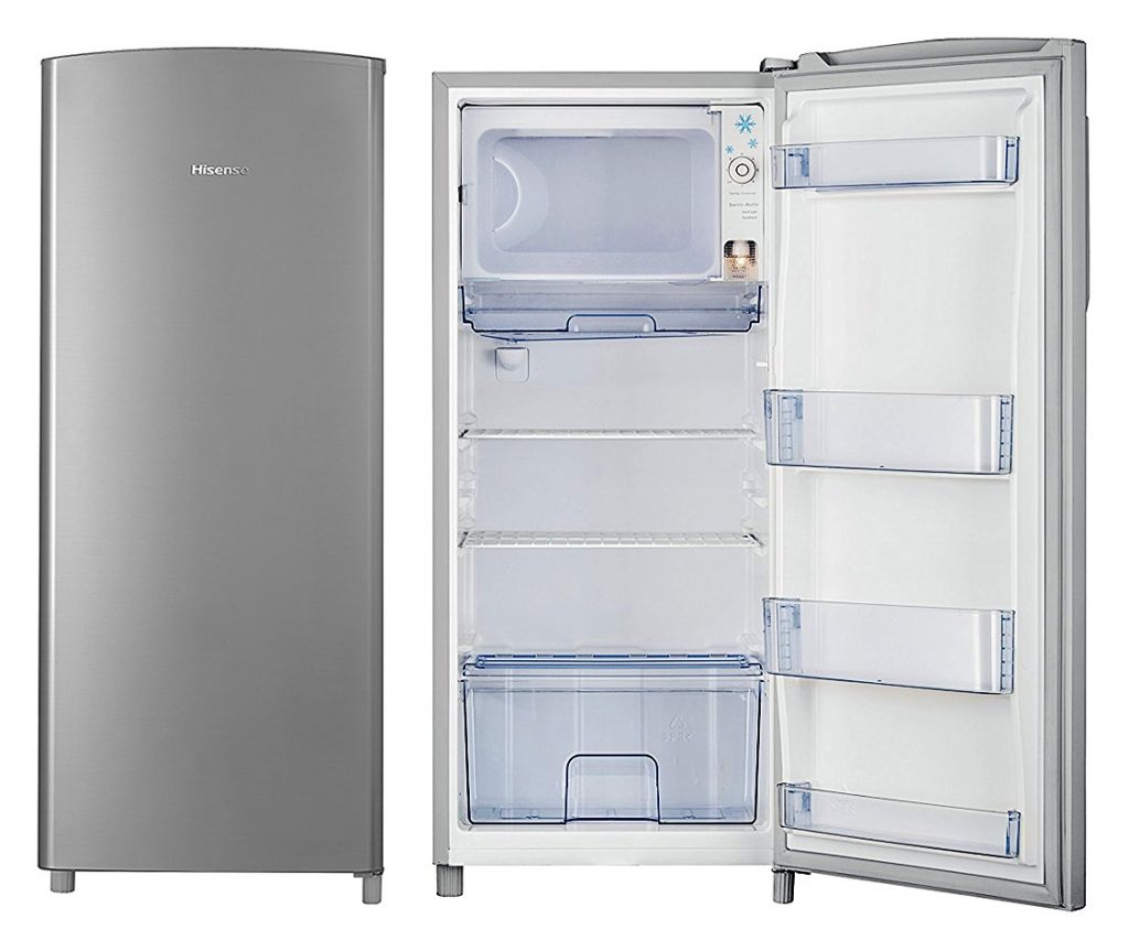 Small Single Door Refrigerator with Freezer