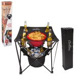Tailgating Folding Table with Insulated Cooler